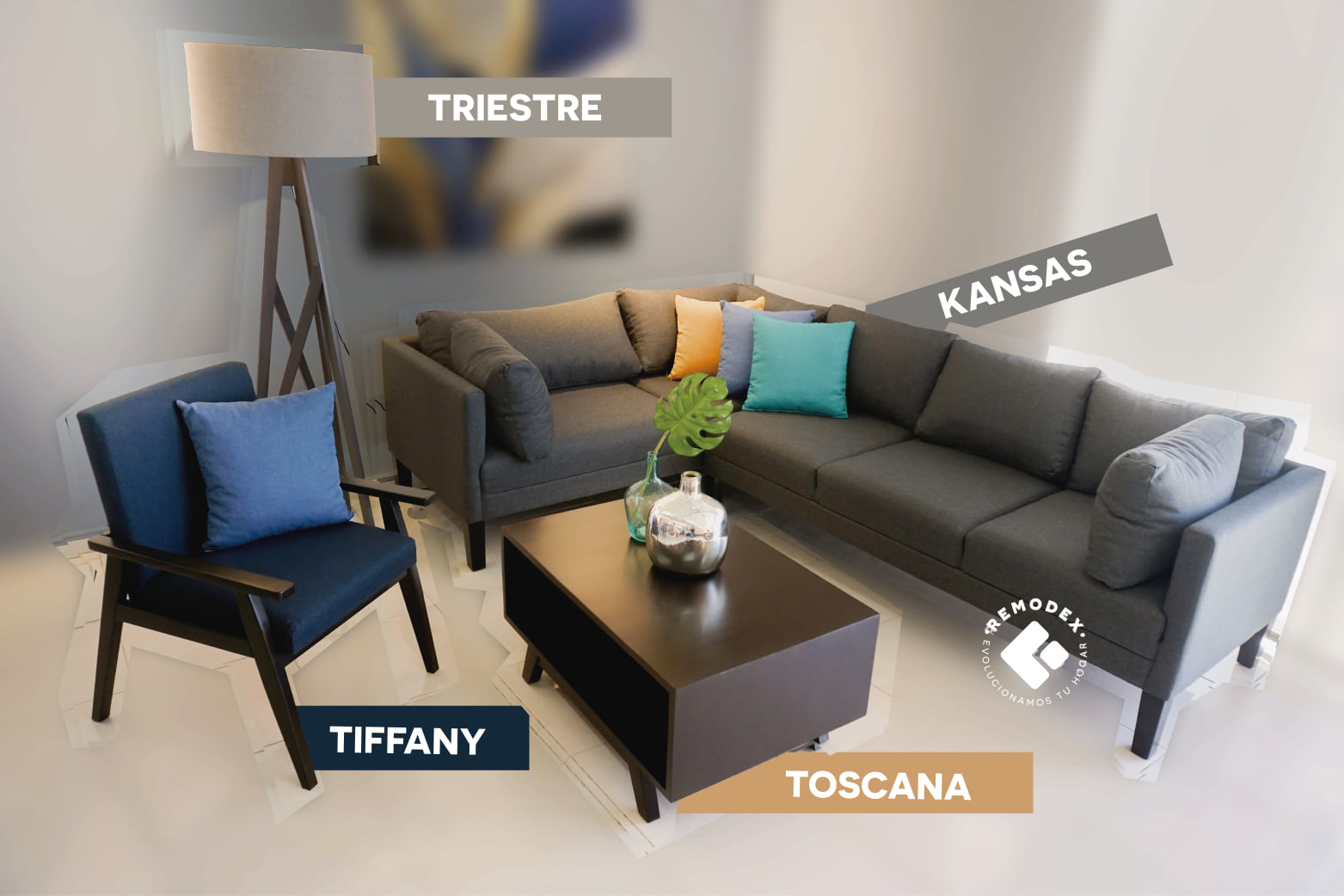 PAQUETE KANSAS/TIFFANY/TOSCANA/TRIESTE