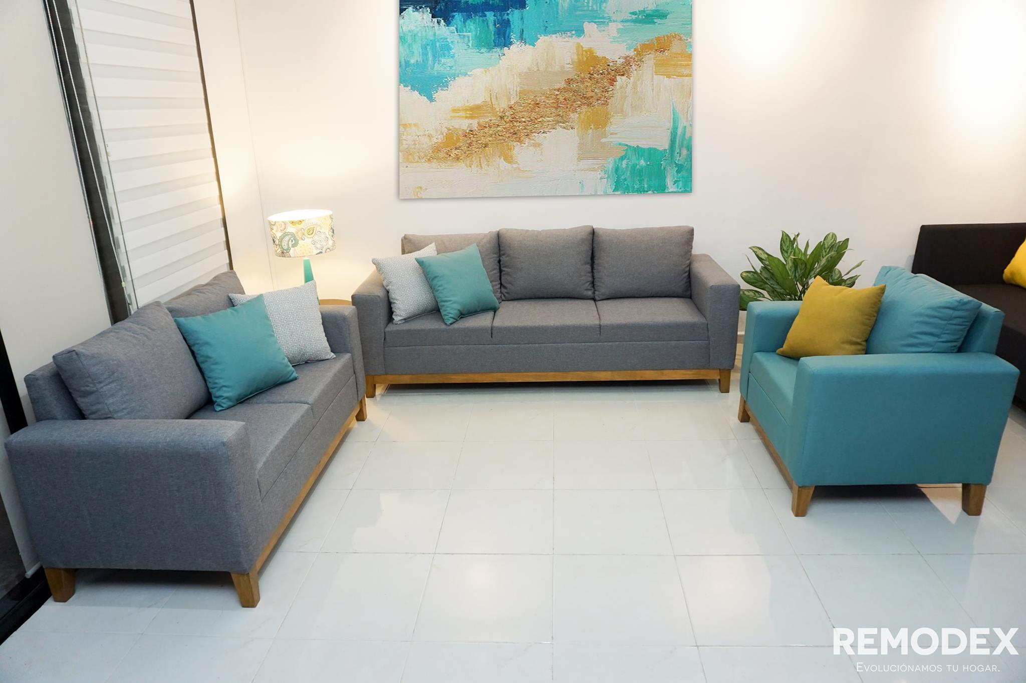 PAQUETE SOFÁ + LOVE SEAT + INDIVIDUAL SOFÍA